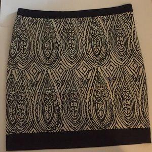 Rafaella skirt size 18W black & white print
